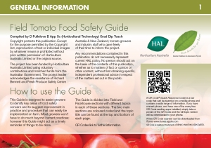 Field Tomato Food Safety Guide Page 1